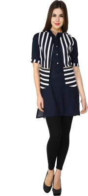 Kazma Striped Women's Straight Kurta
