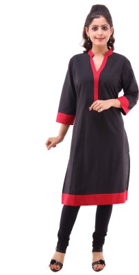 Pahal Solid Women's Straight Kurta