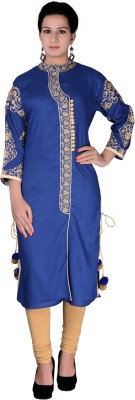 iCRAFTIC Embroidered Women's Straight Kurta