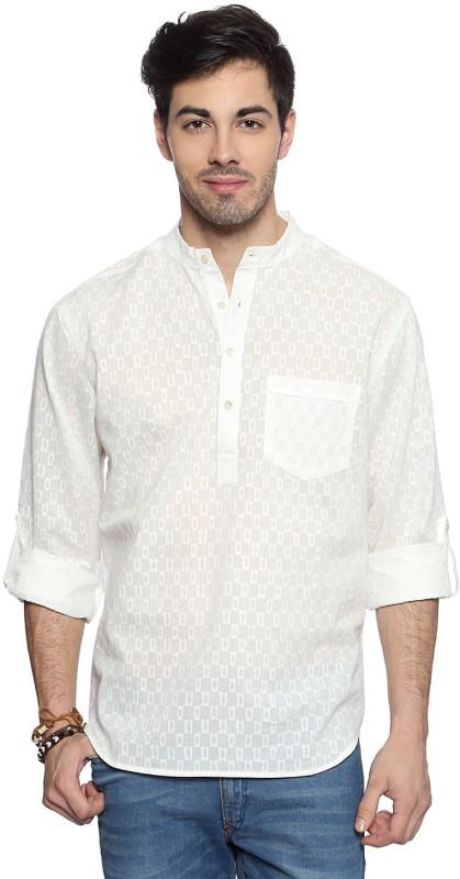 Akkriti by Pantaloons Solid Men's Straight Kurta(White)
