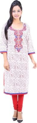 Fuchsia Creation Printed Women's Straight Kurta
