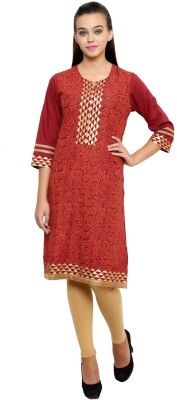 Ritzzy Printed Women's Straight Kurta