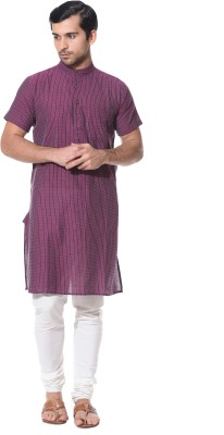 Abhiyuthan Striped Men,s Straight Kurta