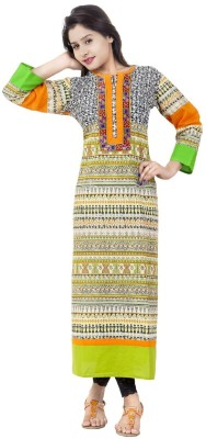 Hindu Fashions Printed Women,s Straight Kurta