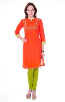 Akshat International Solid Women's Straight Kurta