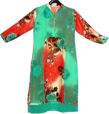 Gungun Fashion Floral Print Women's Flared Kurta