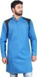 Qdesigns Solid Men's Pathani Kurta (Blue...