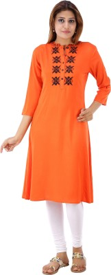 House of Tantrums Solid Women's Straight Kurta