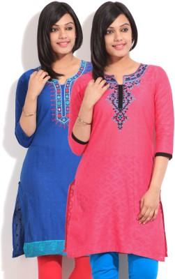 Sneha Self Design Women's Straight Kurta