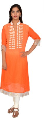 Selectives Embellished Women's Straight Kurta