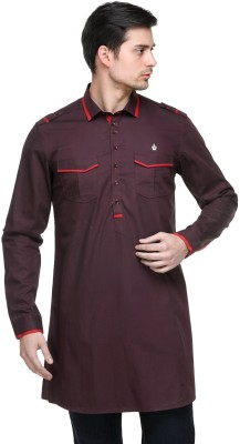 Fusion Freak Solid Men's Pathani Kurta
