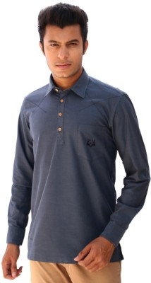 Roger Clothier Solid Men's Straight Kurta