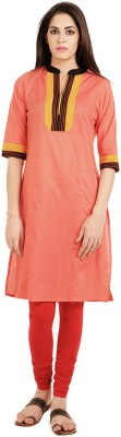 Aana Solid Women,s Straight Kurta