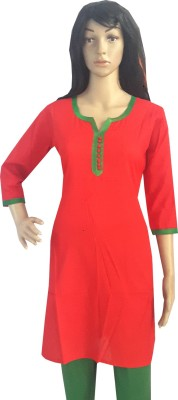 Desert Fabrics Self Design Women's Straight Kurta