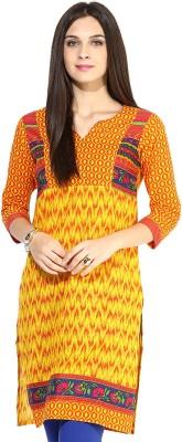 Jaipur Kurti Geometric Print Women's Straight Kurta