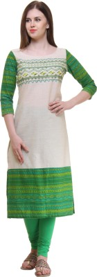 Gulmohar Jaipur Printed Women's Straight Kurta(Green) at flipkart