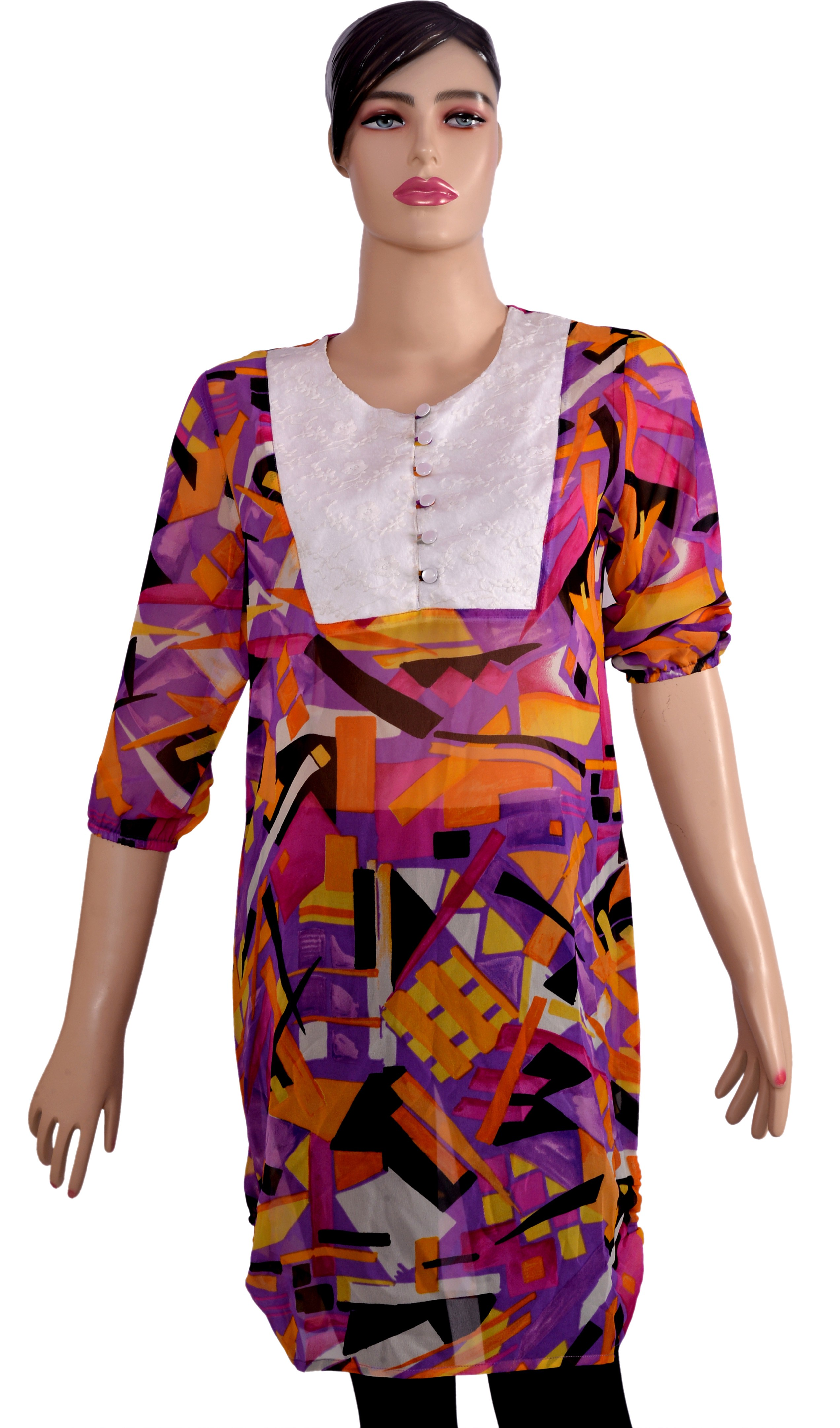 Kumi Printed Womens Straight Kurta(Multicolor)