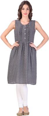 Libas Printed Women's A-line Kurta(Black) at flipkart
