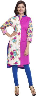 BABA Floral Print Women,s Straight Kurta
