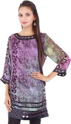 Ethnic Oyester Printed Women's Straight Kurta
