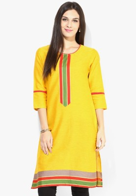 Jaipur Kurti Self Design Women's Straight Kurta