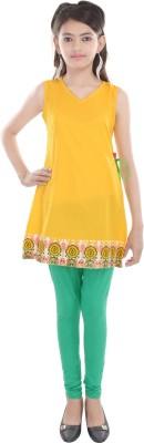 Cotton On Kids Solid Girls A-line Kurta(Yellow)