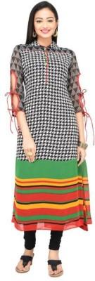Darbari Checkered Women's Straight Kurta