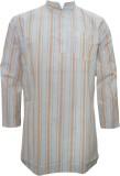 Indiatrendzs Striped Men's Straight Kurt...