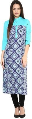 Chitwan Mohan Geometric Print Women's Straight Kurta