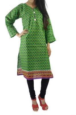 ShopMore Printed Women's Straight Kurta