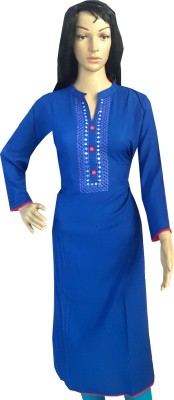 Desert Fabrics Embroidered Women's Straight Kurta