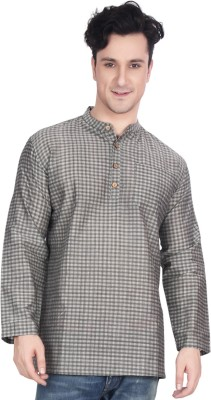 Ecostyle Checkered Men's Straight Kurta