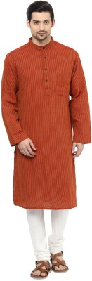 Design House Striped Men's A-line Kurta