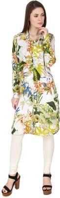 Big Pout Casual, Festive Floral Print Women's Kurti