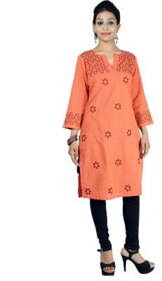 GO LUCKNOW Embroidered Women's Straight Kurta