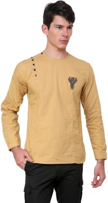 The Indian Garage Co. Solid Men's Straight Kurta