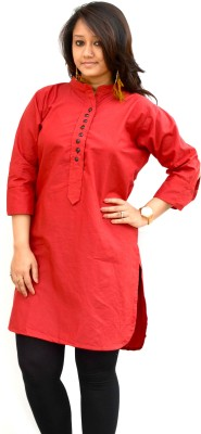 Aarti Collections Casual, Festive Solid Women's Kurti
