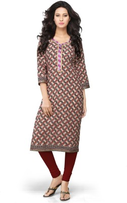 Devi Handlooms Printed Women's Straight Kurta