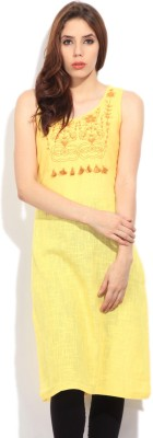 Global Desi Self Design Women's Straight Kurta