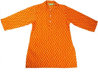 NeedyBee Printed Boy's Straight Kurta