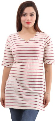 the Clove Striped Women's Straight Kurta