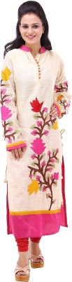 Your Wardrobe Floral Print Women's Straight Kurta