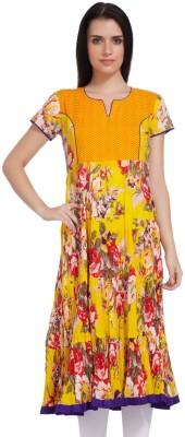 Lifestyle Retail Missy Floral Print Women's Anarkali Kurta