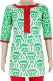 Estyle Printed Girls A-line Kurta (Green...