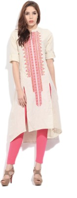 Global Desi Solid Women's A-line Kurta