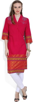 Aurelia Self Design Women's Straight Kurta at flipkart