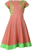 Estyle Embroidered Girl's A-line Kurta (...