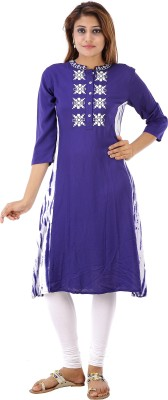House of Tantrums Embroidered Women's Straight Kurta