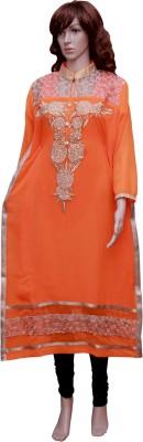 Kanaw Creations Embroidered Women's Straight Kurta
