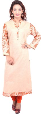 Rupanand Creations Floral Print Women's Straight Kurta